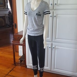 Victoria's Secret Pink sweat pants and Jersey Tee